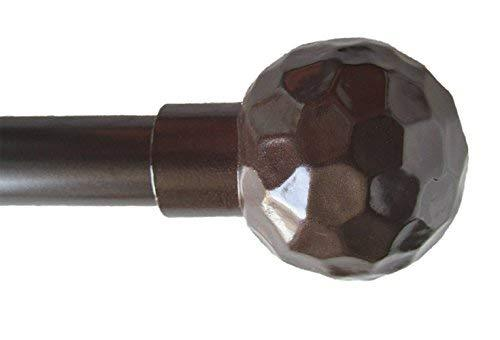 "Urbanest Classic Forged Iron Hammered Ball Window Drapery Rod Set (Bronze, 48""-8"