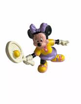 Vintage Minnie Mouse Disney Tennis Racquet Outfit Figure Cake Topper PVC... - $11.87