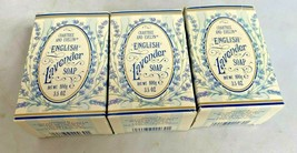 CRABTREE & EVELYN LONDON ENGLISH LAVENDER Soap Lot of 3 UNUSED Boxes  - $39.55