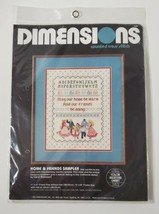 Dimensions Counted Cross Stitch Home & Friends Sampler Kit 3584 Vtg 1984 New   - $19.99
