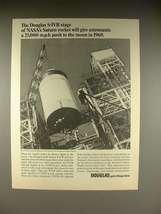 1966 Douglas S-IVB Stage of NASA's Saturn Rocket Ad! - $14.99