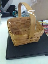 vintage Longaberger Square Swing Handle Basket - 1988 - $11.91