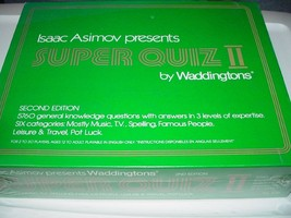 Isaac Asimov Presents Super Quiz 2 by Waddingtons. Second Edition. - $29.95