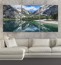 "BoxColors LARGE 30""x 60"" 3 panels 30x20 Ea Art Canvas Print Lake Rocky M... - $109.00"