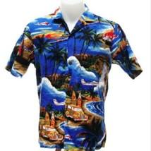 Royal Creations Men's Hawaiian Aloha Shirt Surfboard Woodie Station Wago... - $23.33