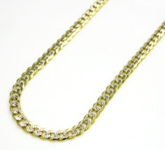 10K Two-Tone Gold Diamond Cut Cuban Link Chain Necklace 2MM  - $83.60+
