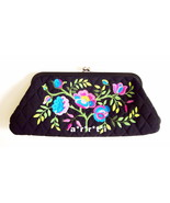 Vera Bradley Veronique Limited Edition Embroidered Floral Microfiber Clu... - $40.00