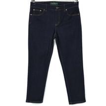 Lauren Jeans Co Ralph Lauren Womens Classic Straight Cropped Jeans Size ... - $49.45