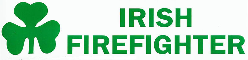 Primary image for IRISH FIREFIGHTER DECAL with Shamrock - for  Irish Firefighters