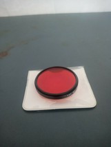 TIFFEN 55mm #25 RED 1 Glass Made in USA Filter w/CASE All 55mm - $4.90