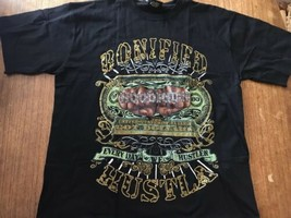 New York Hood Rich Bonified Hustla Every Day We Hustlen T Shirt Sz Large - $28.49