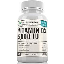 Gaia Sciences Vitamin D3 5,000 IU in Cold-Pressed Organic Olive Oil, GMO-Free, H image 3