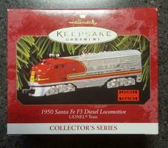 1997 Lionel Hallmark Keepsake Ornament Train 1950 Sata Fe Diesel Locomotive - $4.95