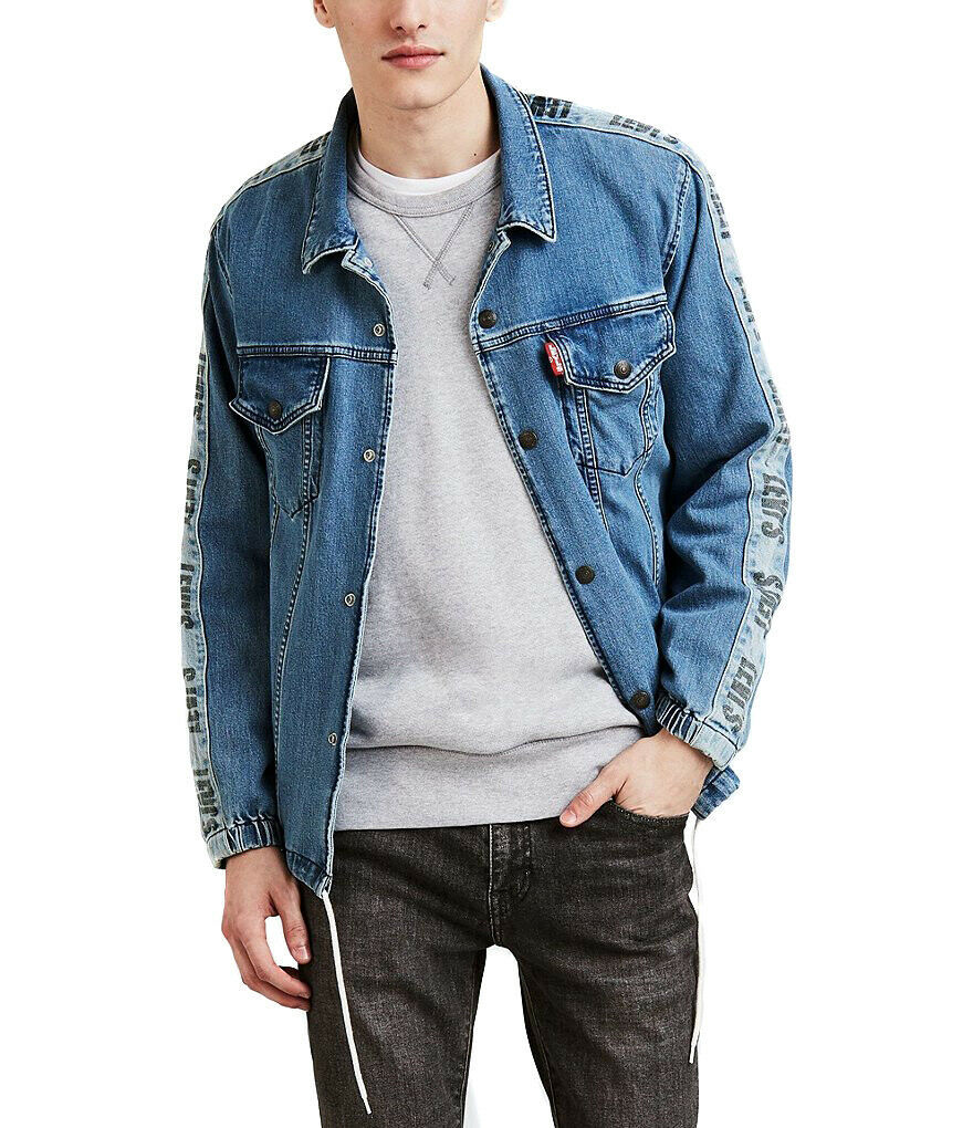 Levi's Strauss Men's Cotton Denim Jean Track Coach's Trucker Jacket 578500000