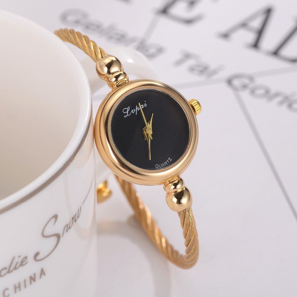 Lvpai® Women Bracelet Watch Luxury Stainless Steel Gold Silver Quartz Gift