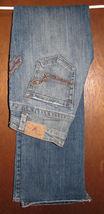 American Eagle AE Womens Stretch Boot Jeans Size 2 Regular Metallic Fanc... - $15.99