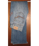 American Eagle AE Womens Stretch Boot Jeans Size 2 Regular Metallic Fanc... - $15.99
