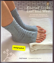 Knitted Socks East and West 30 Designs Inspired by Japanese Patterns (Si... - $15.00