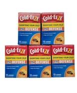 5x Cold-EEZE Plus Defense Zinc Lozenges 12 Ct Citrus With Elderberry Hom... - $43.99
