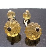 UNIQUE UNISEX BLACK ONYX CITRINE STERLING CUFFLINKS sld - $265.00