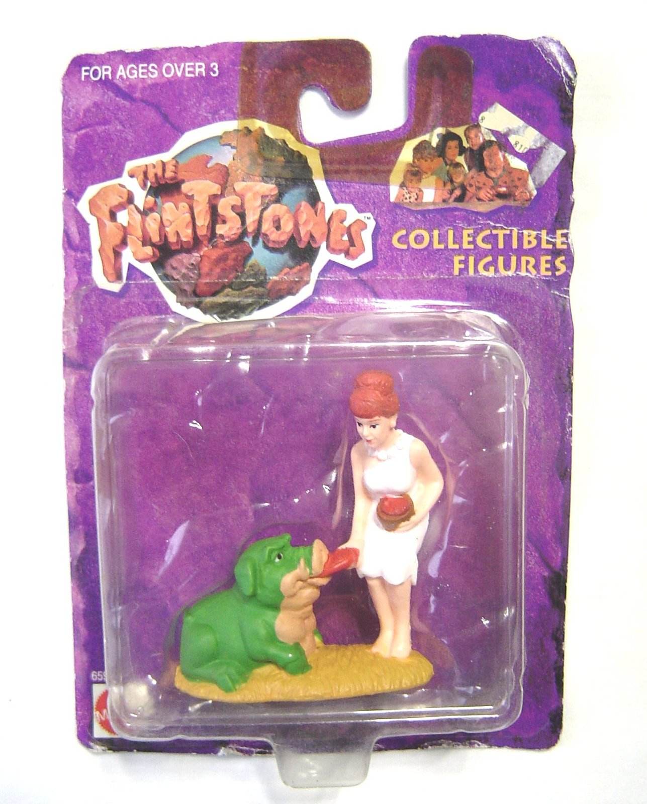 The Flintstones Collectible Figure Wilma Feeding The Pigasaurus NIP 1993 Mattel - $11.99