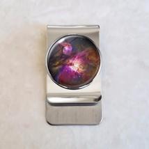 Choose Planet Nebula Moon Astronomy Astrophysics Stainless Steel Money Clip - $20.00