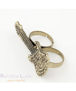 Two finger guitar ring (with rhinestones) - $14.99