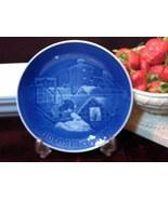 B&G Bing & Grondahl Christmas Plate 1977 Copenhagen Christmas Denmark Blue  - $19.99
