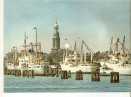 Old Musical 45rpm Record Postcard Schallbildkarte Hamburg Hafen Port Mit... - $11.88