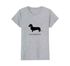 Smooth Dachshund Shirt - black silhouette - $19.99+