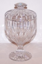 "GORGEOUS MIKASA CRYSTAL PARK LANE 7 1/4"" FOOTED CANDY DISH  WITH LID - $54.44"