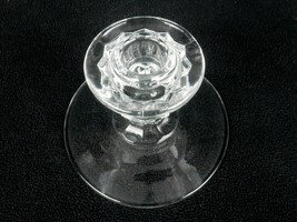 Fostoria Glass Single Light Candle Holder,  Vintage 3D Cubes American Pa... - $14.65