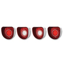 68 Chevy Bel Air & Biscayne Red White Rear Tail Back Up Light Lens & Tri... - $67.95