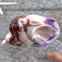 Mermaid Sculpture Conch Shell  - $22.97