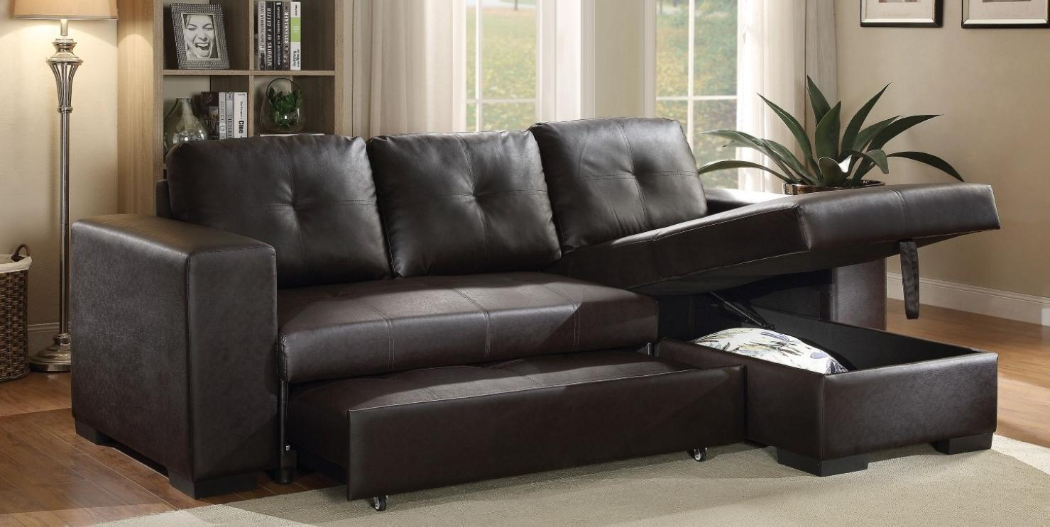 Acme 53345 Lloyd Black Tufted Pu Sectional Sofa With