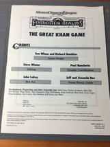 Dungeons & Dragons Forgotten Realms The Great Khan Game #1044 1989 TSR No Cover - $24.74