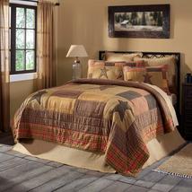 10-pc Stratton Applique King Quilt Set -Euro Shams, Pillow, Bed Skirt & Jute Rug