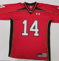Under Armour Maryland Terrapins Red NCAA Football Jersey Mens Large #14 - $768,51 MXN