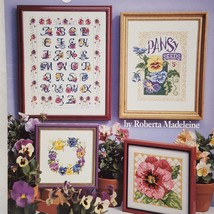 Pansies Flowers 3659 Cross Stitch Leaflet American School Needlework 1994 - $13.45