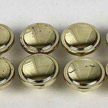Vintage Knobs Pulls Polished Gold Tone Metal Patina 8 Pc Lot Drawer Cabinet  image 9
