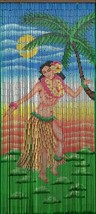 Natural Bamboo Beaded Curtain Dancing Hula Girl  Beads Window Doors Room... - $59.39