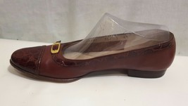 Salvatore Ferragamo Boutique Shoes Women's 7 AAA Cap Toe Faux Alligator Italy - $32.71