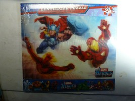 Marvel Heroes 28 Piece Lenticular Puzzle Free Shipping New - $6.92