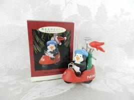Hallmark Christmas Ornament - Putt-Putt Penguin - Penguin on Golf Cart 1993 - £11.35 GBP