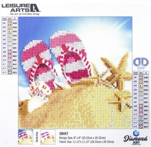 "Leisure Arts Diamond Art Beginner Kit 8""X8""-Flip Flops - $12.50"