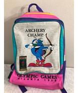 VTG Atlanta 1996 Olympics Backpack Bag Summer Games 90s - $39.99