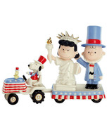 Lenox Peanuts It's Independence Day Snoopy Charlie Brown Lucy Figurine Set New - $389.90