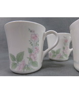 (4) Corning, Corelle Veranda Pattern Coffee Tea Mugs Cups, Excellent Con... - $11.35