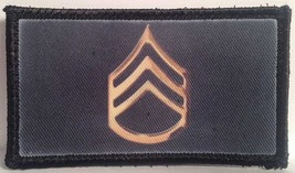 army staff sergeant hook and loop embroidered patch package of 4 - $22.55