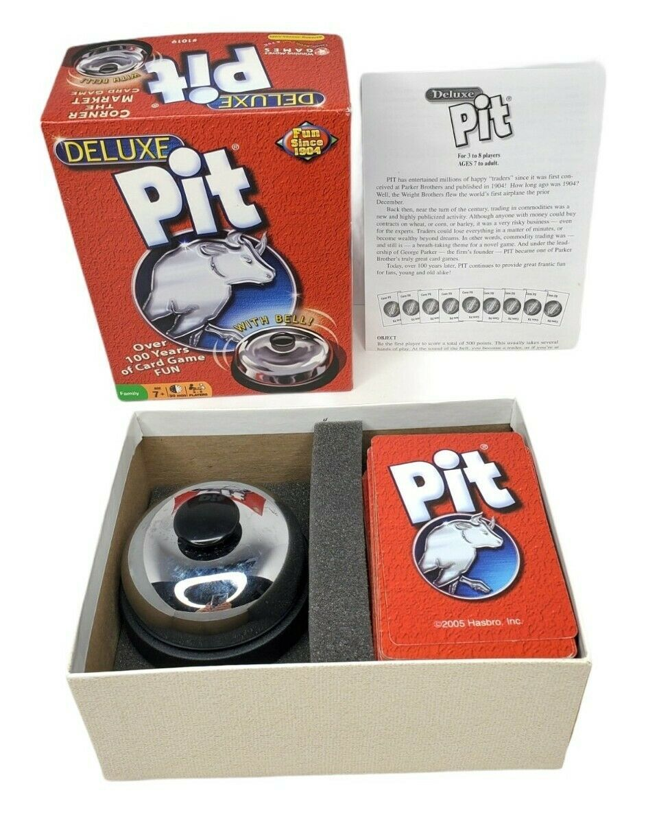 Pit Deluxe Corner the Market Card Game With Bell Hasbro 2008 - $11.64